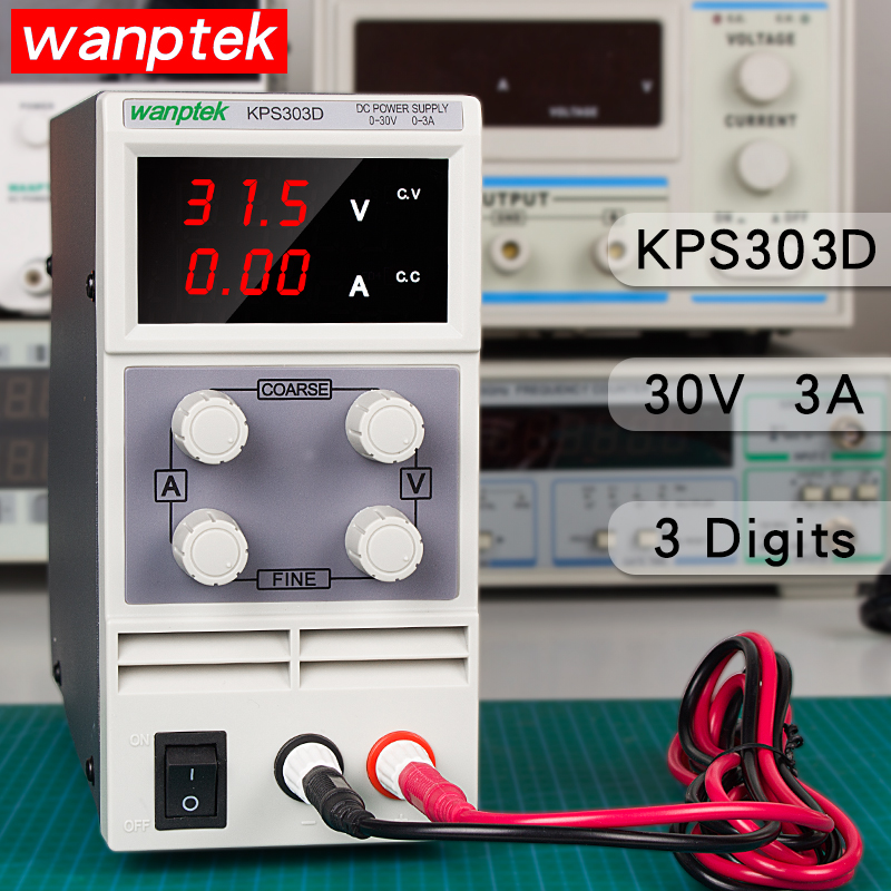 KPS303D 30V 3A switch DC Power Supply protection function Adjustable High precision double LED display regulator HOT!KPS303D 30V 3A switch DC Power Supply protection function Adjustable High precision double LED display regulator HOT!