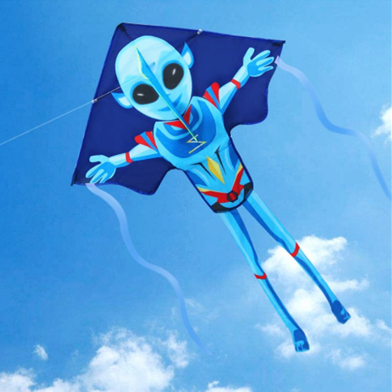 New Arrival Kids Kite Toy Mysterious Alien Kites Outdoor Sports  Kites For Fun Easy To Fly Children Gift