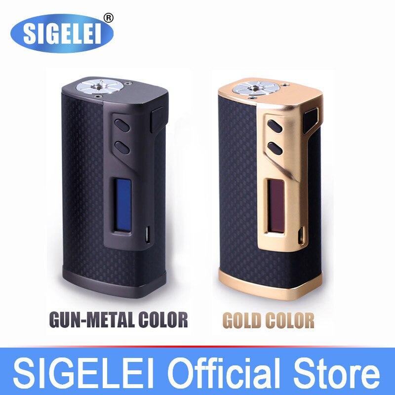 Boîte à Vape mod classique Sigelei e Cigarette électronique Sigelei 213 en fibre de carbone et alliage de Zinc