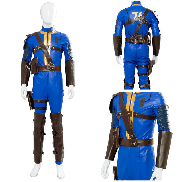costume fallout 4 fallout 76 vault 76 jumpsuit cosplay costume suit uniform outfit halloween carnival cosplay