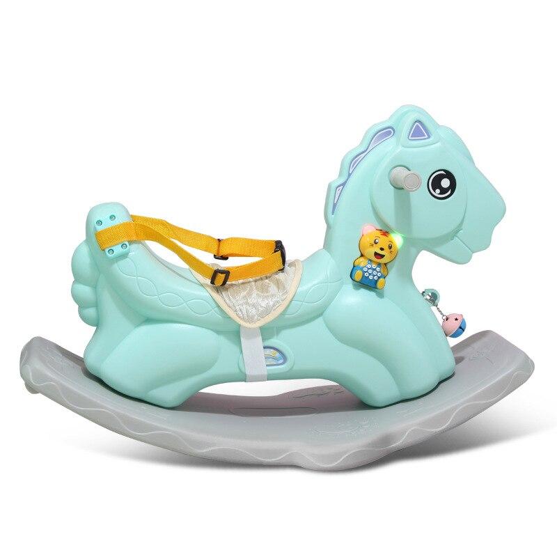 Лошадка качалка Baby Пластик большой Размеры кресло качалка двойного назначения ездить на игрушки животных От 1 до 6 лет Верховая езда игрушка... - 2