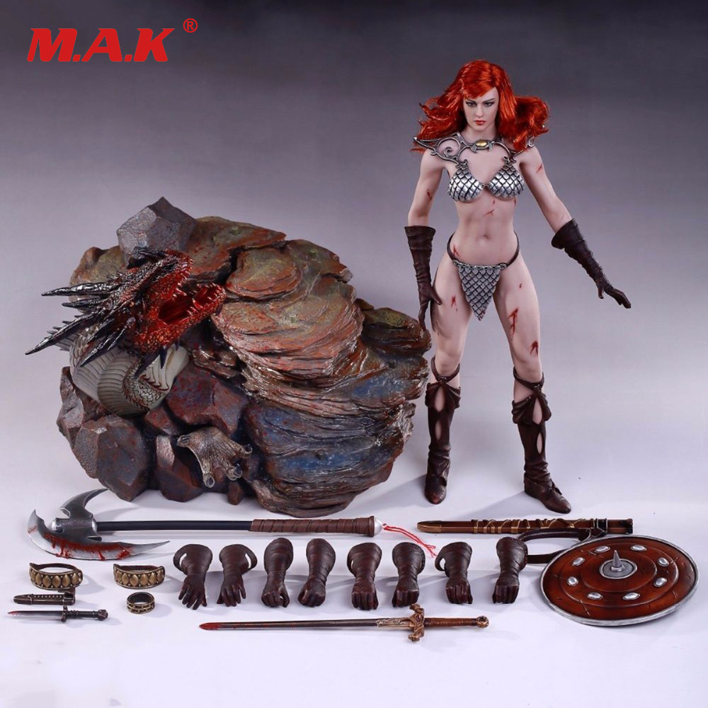 TBLeague 1/6 PL2016-93 Red Sonja Combat Cool Action Figure Flexible Seamless Body Figure the She-Devil Action Figures cd ac dc back in black remastered