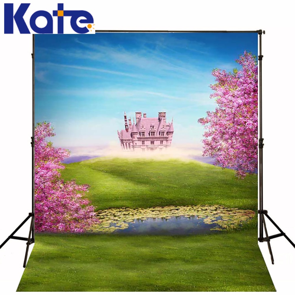 Kate Children Theme Photography Backdrop Fundo Fotografico Newborn Natural Scenery Blue Sky Cartoon Castle Background Fantasy blue sky чаша северный олень