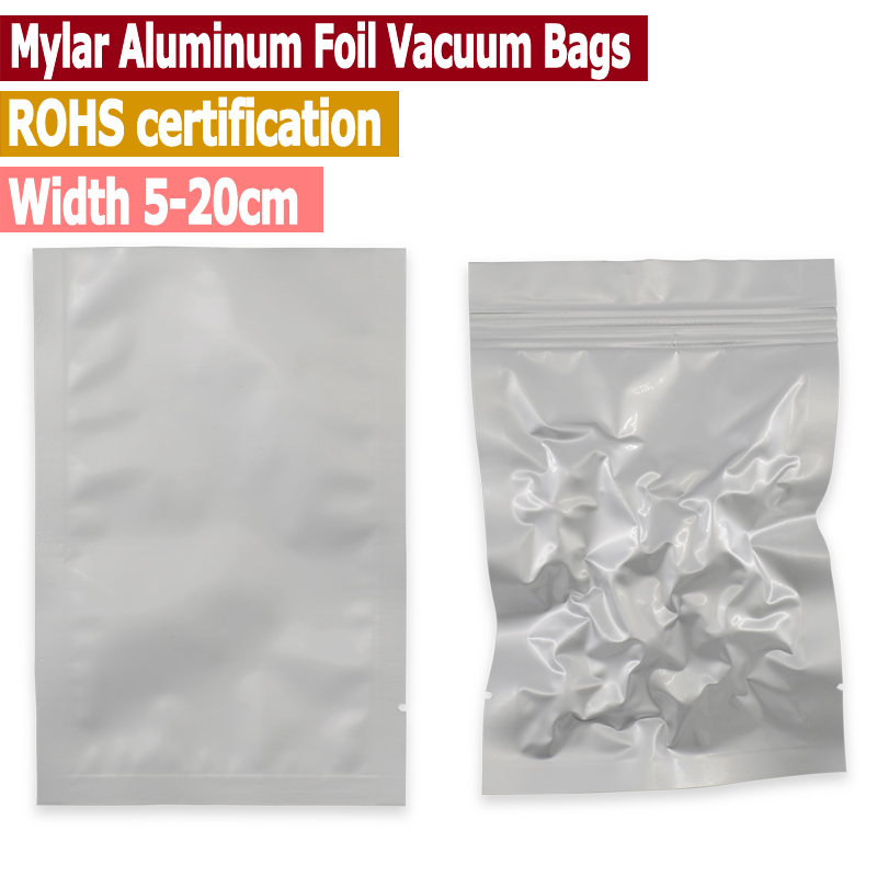 100 Pc Small Size Mylar Aluminum Foil Heat Seal Bags Vacuum Keep Aroma Oxygen Barrier Width From 5 To 18 Cm