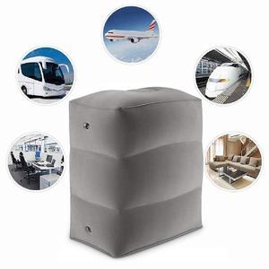 Image 3 - Almohada inflable de 3 capas para reposapiés de viaje, reposapiés para coche, cojín ecológico para coche y avión