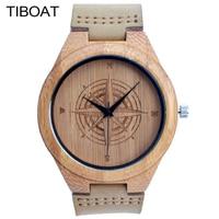 TIBOAT Wood Watch Men Watch Women Fashion Mens Watches Top Brand Luxury Montre Femme Homme Horloges