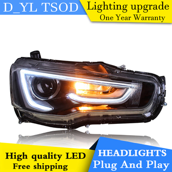 Car Styling Headlights for Lancer EX 09-16 LED Headlight for Lancer EX Head Lamp LED Daytime Running Light LED DRL Bi-Xenon HID