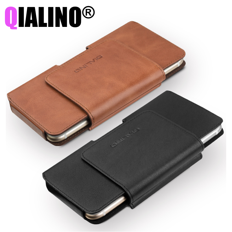 bilder für Universelle Abdeckung für Fundas iPhone 7 Business Tasche Fall für iPhone 7 Plus Echtes Leder für iPhone 6 s Coque Einfache Holster
