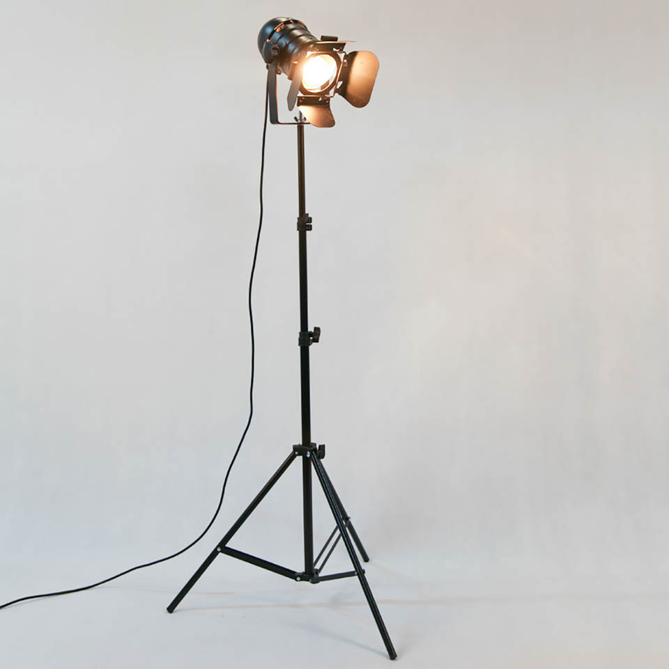 2PACK Industrial Creative Retro Tripod Black Floor Lamp Lights Room Lights Stand Lamps