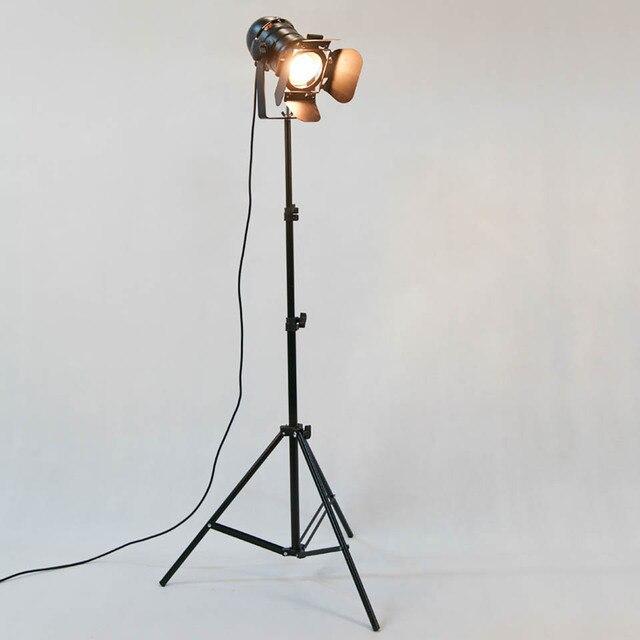 2 PACK Industrie Kreative Retro Stativ Schwarz Stehlampe Leuchtet ...