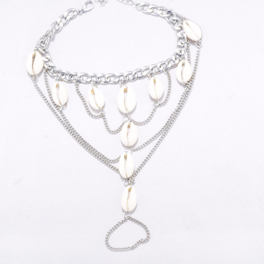 HTB1dGPaSpXXXXcLapXXq6xXFXXXe Summer Boho Seashell Ankle Bracelet Accessory