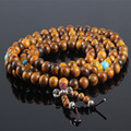 Ubeauty 8mm 108 natural vietnam fragrant agarwood prayer beads tibetan Buddha prayer mala bracelet for Meditation