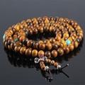 Ubeauty 8mm 108 natural vietnam fragrant agarwood prayer beads tibetan Buddha prayer mala bracelet for Meditation