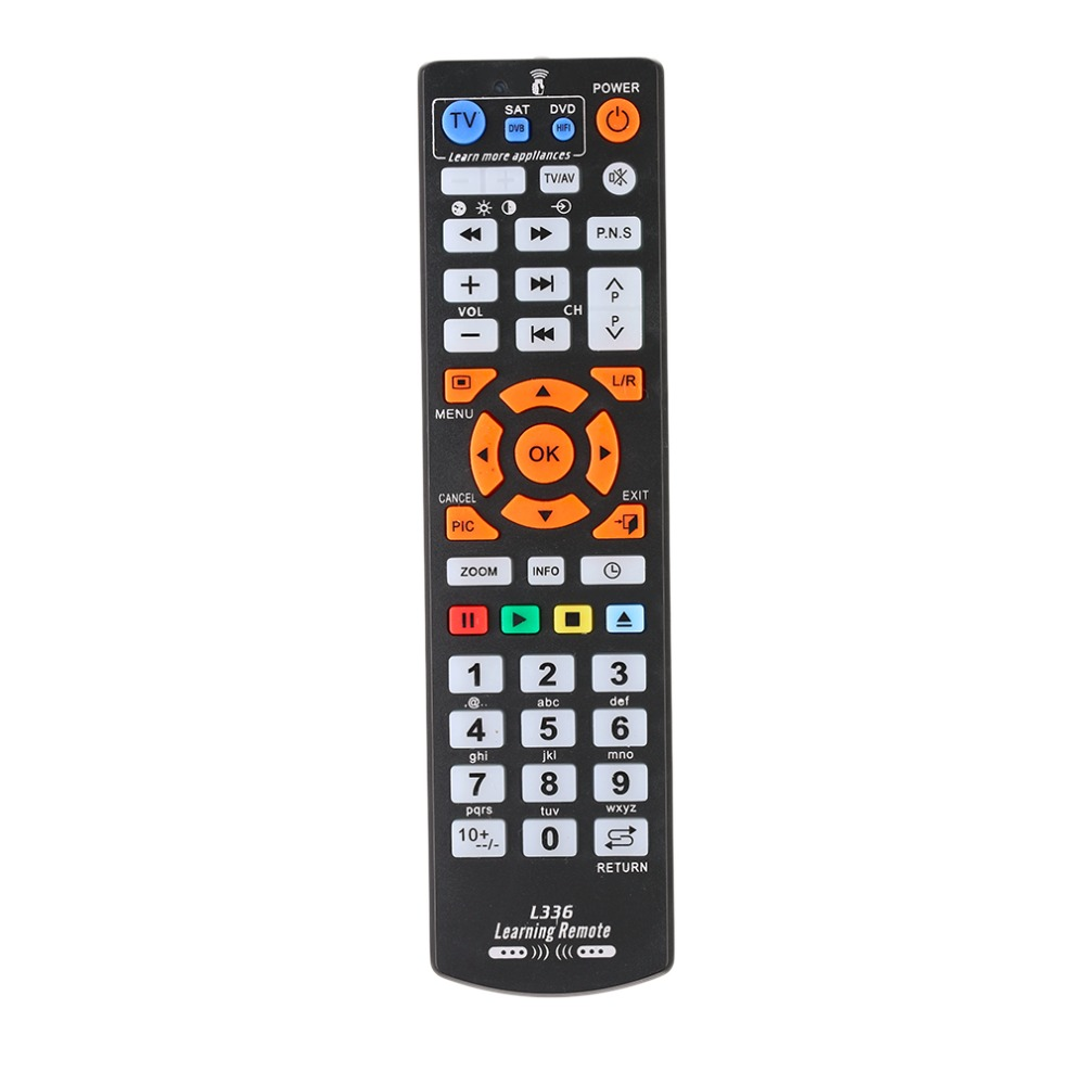 Universal Smart Remote Control Controller With Learning Function For TV CBL DVD SAT For Chunghop L336 Drop Shipping 1pcs chunghop rm l987e tv sat dvd cbl cd ac vcr smart tv 3d universal remote control learning equipment with lcd display