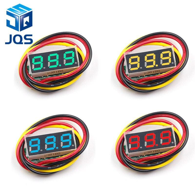 DC 0V-100V 0.28 Inch LED Digital Voltmeter Voltage Meter Volt Detector Monitor Tester Panel Car 12V 24V Red Green Blue Yellow