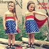 Hurave Summer Girl Dresses So Cool Wonder Woman Dresses Star Pattern Cloak Dresses Fashion Girl Clothes