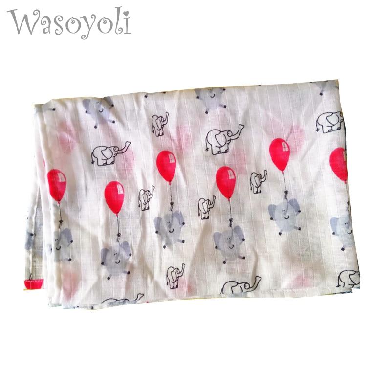 """""""Wasoyoli Baby Muslin Swaddles"""" 60 * 84cm 100% medvilnės naujagimio minkštos antklodės Marso vonios rankšluosčių laikymo krepšiai vasaros antklodė"""