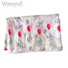 Wasoyoli Baby Muslin Swaddles 60*84cm 100% Cotton Newborn Baby Soft Blankets Gauze Bath Towel Hold Wraps Summer Quilt