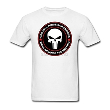 Punisher Skull God Will Judge Our Enemies Casual Fashion O-Neck Short Sleeves Men's T-shirt
