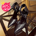 2016 new black red golden silvery women sexy pumps lady fashion pointed toe thin high heels shoes female sexy heels Sandals shoe