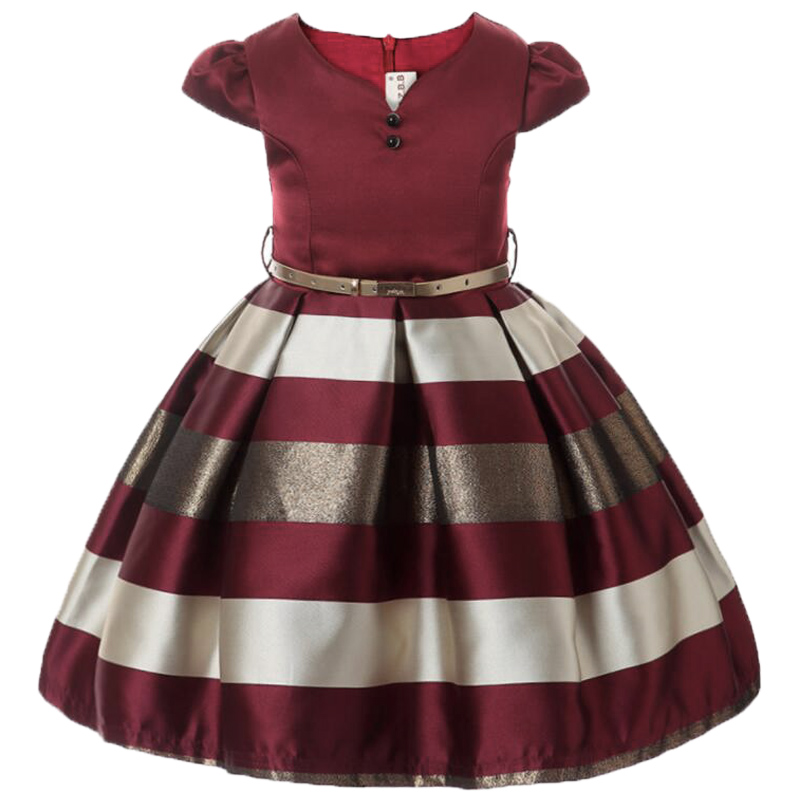 Baby Girls Striped Dress For Girls Formal Wedding Party Dresses Kids Princess Christmas Dress Costume Children Girls Clothing 5