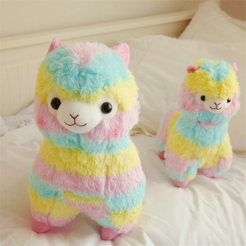 Animals Toys Doll Plush-Toy Rainbow-Alpaca Christmas-Gifts Stuffed Soft-Cotton Children