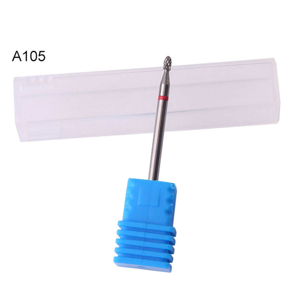 1 pc Carbide Nail Drill Grinding Head Bit Cone Shape Medium Grit For Under Nail Drill Bit Gel Remove Clean Polishing in Electric Manicure Drills from Beauty Health