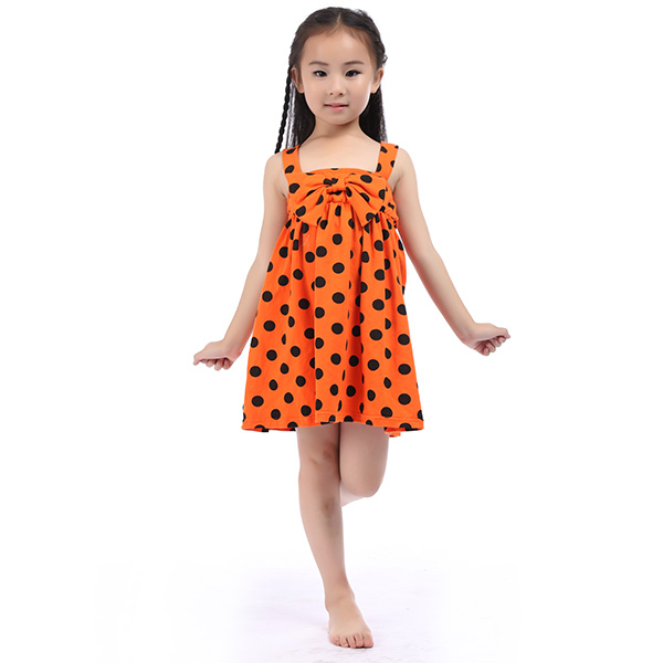 Summer Dress 2015 Wholesale Girl Orange Halloween Dress ...