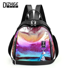 DIZHIGE Brand Luxury Oxford Women Backpack High Quality School Bag For Fashion Patchwork Laser Pendant Female Travel Bags