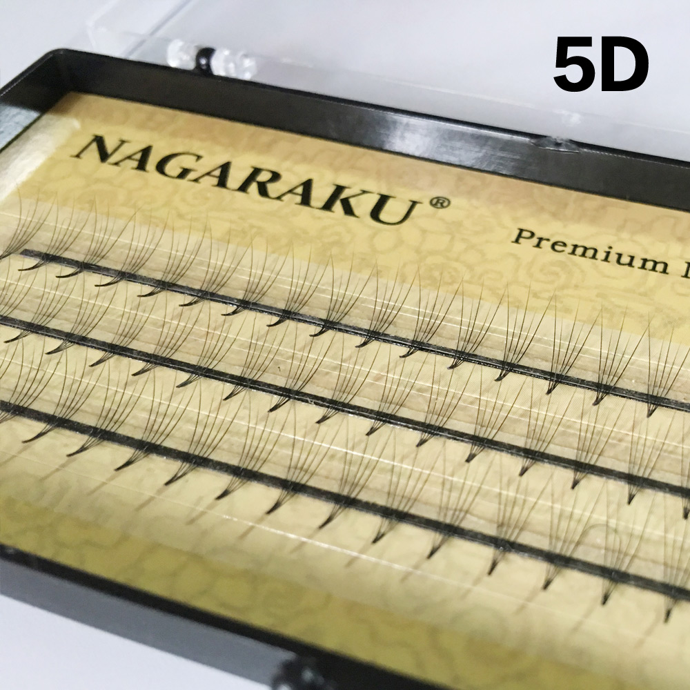 Nagaraku Eyelash Extensions Faux Mink 5d Volume Lash C Curl Extension Thickness 007mm Length 714mm Soft And Natural Bunch High Quality In False Eyelashes From