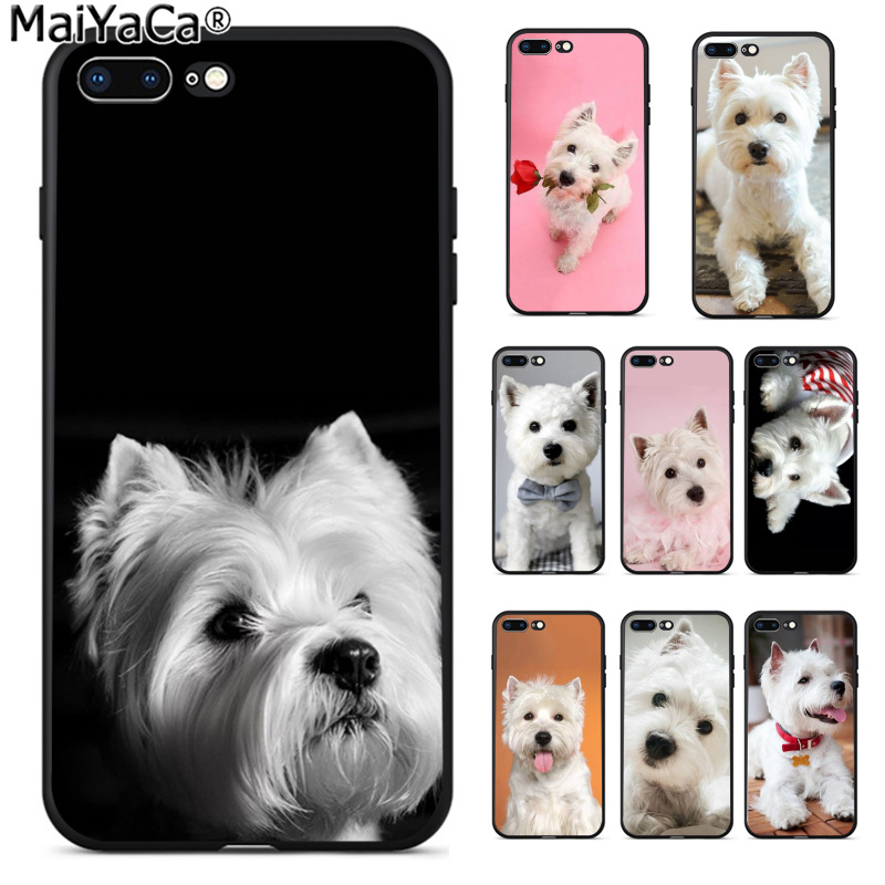 9baf1325a3 MaiYaCa Westie Terrier Dog Puppy Highland Terrier Fashion Phone Case for  Apple iPhone 8 7 6