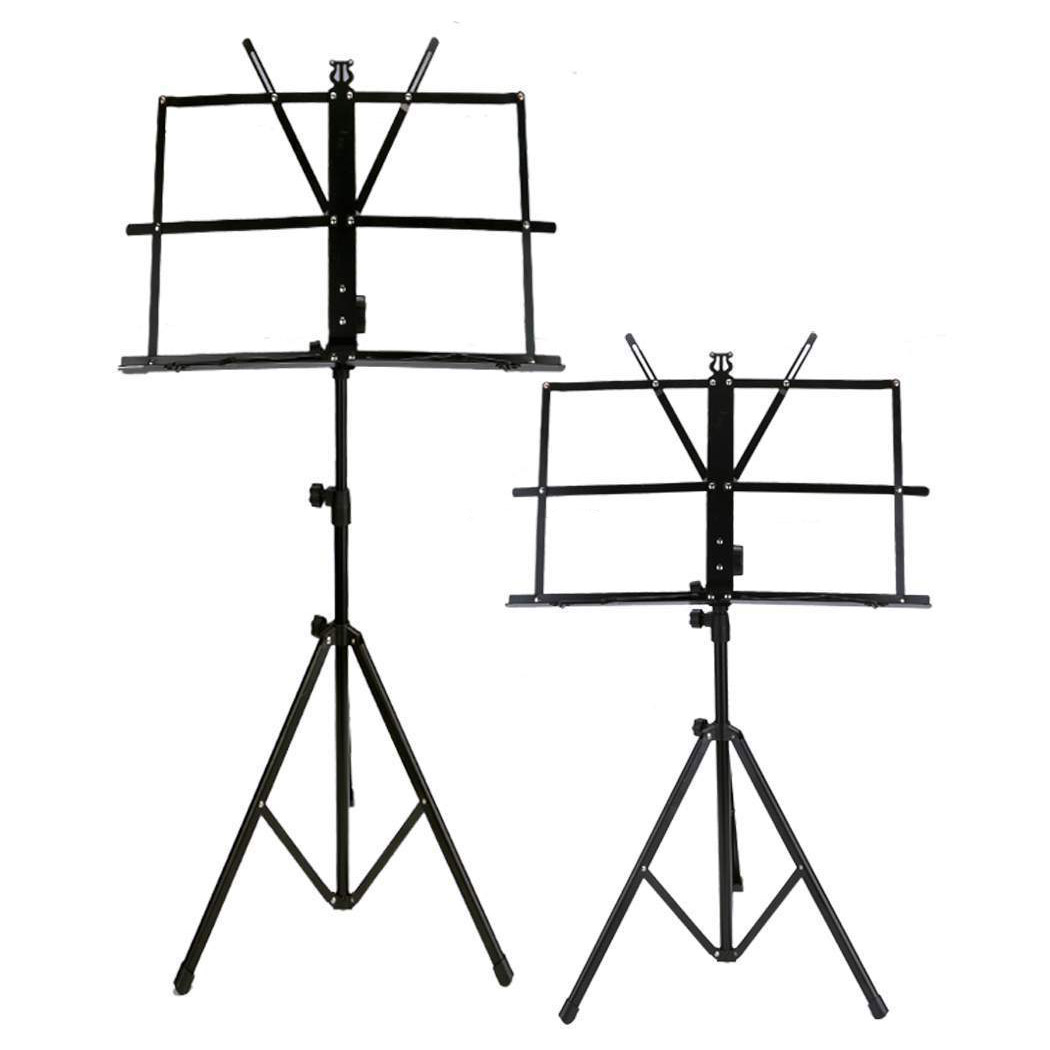 HFES New 2 Pack Adjustable Folding Tripod Sheet Music Stand with Bag colourful sheet folding music stand metal tripod stand holder with soft case with carrying bag free shipping wholesales