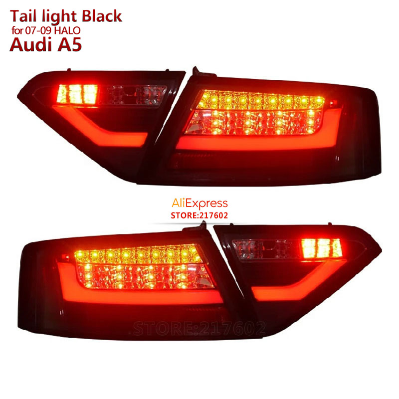 LED Rear lights for Audi A5 2007 to 2012 year Replacement for ogirinal car Halo models Black Housing ensure fitment & durability
