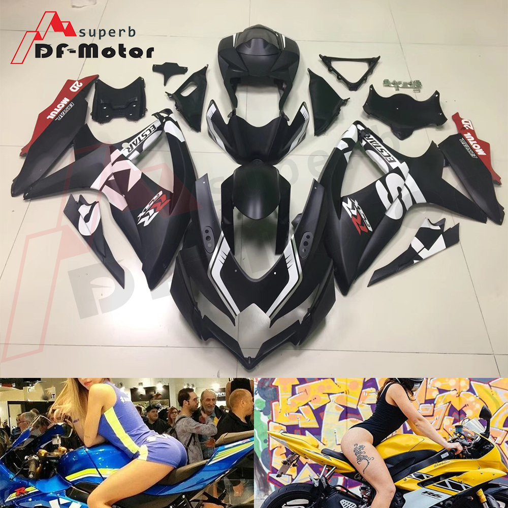 Full Fairing Kit ABS Bodywork Fairing Kit for SUZUKI GSX R 600 750 2008 2009 2010