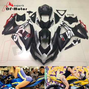 Full Fairing Kit ABS Bodywork Fairing Kit For SUZUKI GSX-R 600 750 2008 2009 2010 GSXR Matt Black 08 09 10 K8
