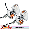 4x Chrome Motorcycle Turn Signals 12v Indicator Amber Light For Suzuki Intruder Volusia VS 700 750 800 1400 1500