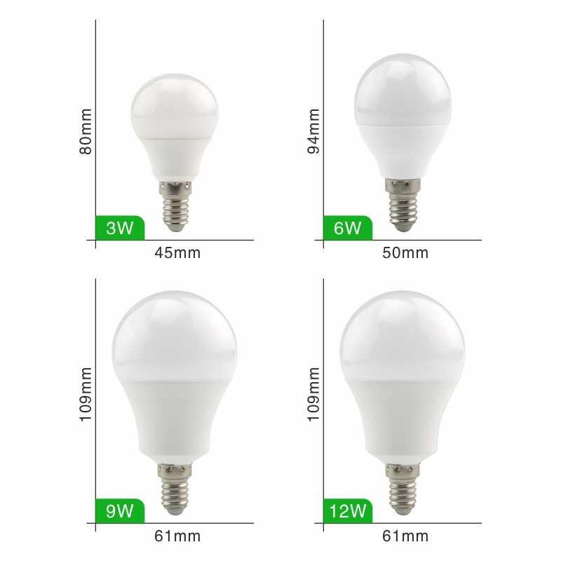 LED Bulb Lamps E27 E14 3W 6W 9W 12W 15W 18W 20W AC 220V 230V 240V Light Bulbs Real Power Spotlight Lampada LED Bombillas