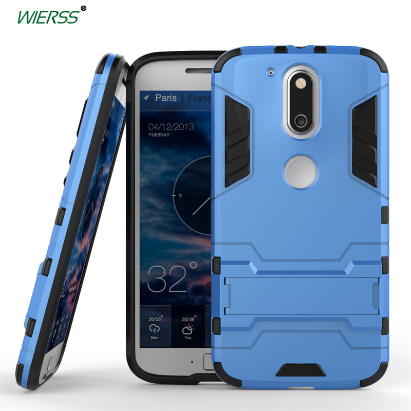 1095d784793f98 3D Luxury Combo Armor Case For Motorola Moto G4 Plus  XT1640 XT1641 XT1642  XT1643 Shockproof Back cover Case shell with Stand