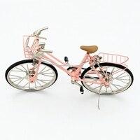 1/10 Women's Bicycle Model Metal Bicycle Craft
