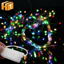 цена 10pcs/lot Button Cell LED String Lights 2m 20LED Lighting String Outdoor Indoor Holiday Decoration Light LED Fairy Lights. онлайн в 2017 году