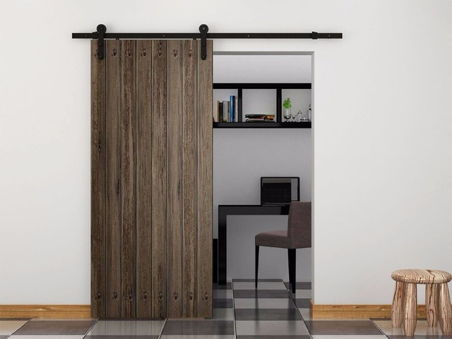porte coulissante raccords rail portes noir dans portes de am lioration de l 39 habitat sur. Black Bedroom Furniture Sets. Home Design Ideas