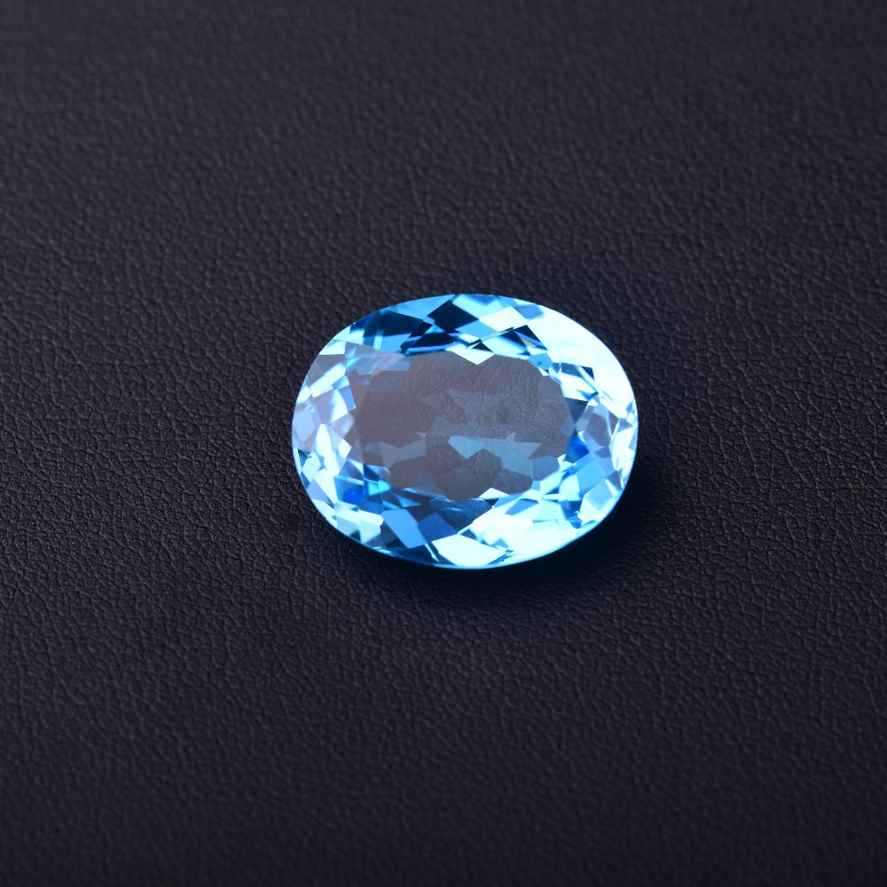 Loose Diamonds & Gemstones Expressive 24.5ct Blue Topaz 20.3mm*16.3mm*8.8mm Perfect Quality Gemstones. Fine Jewelry