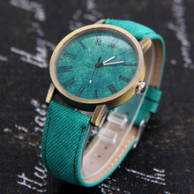 Mdnen Men Women Watches Quartz Watch Denim Design Leather Strap Male Casual Wristwatch Relogio Feminino Ladies And Female Watch