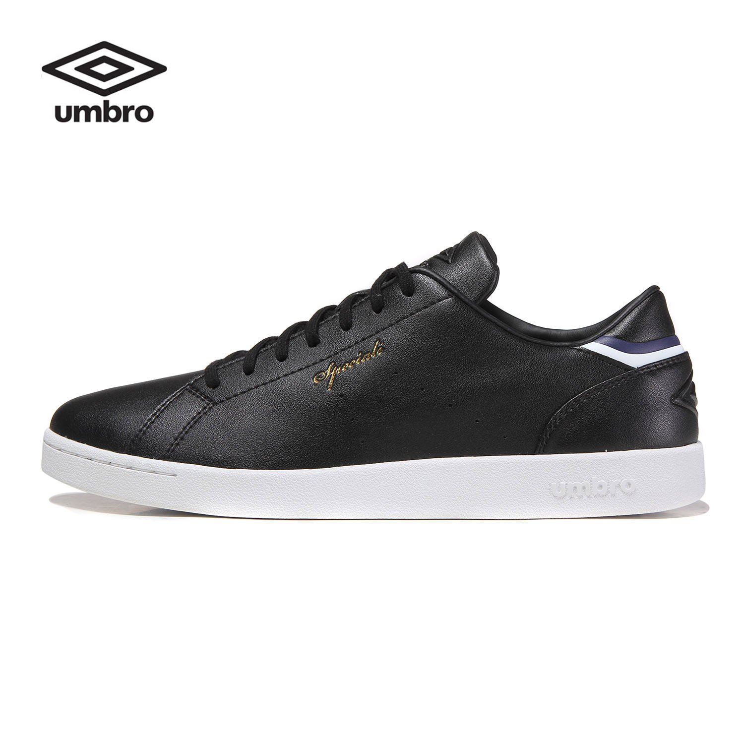 Umbro New Men Board Shoes Lace-Up Round Toe Flats Shoes White Korean Shoes Ucb90601