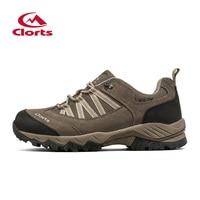 2016 Clorts Men Hiking Shoes Uneebtex Waterproof Outdoor Shoes Rubber Non Slip Trekking Sports Sneakers HKL