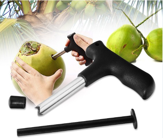 1 Pc Coconut Bohrer Opener Coco Wasser Punch Tap Bohrer Stroh Offene Loch Cutter Diy Coconut Opener Werkzeuge Kx 235 Hell In Farbe