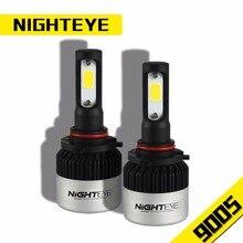 NIGHTEYE 2 Pcs H11 H7 H4/9005 HB4/9006 Levou Lâmpadas Dos Faróis 72 W 6500 K 8000Lm Fichas COB Feixe de Oi-Baixo Feixe Único Farol Kit