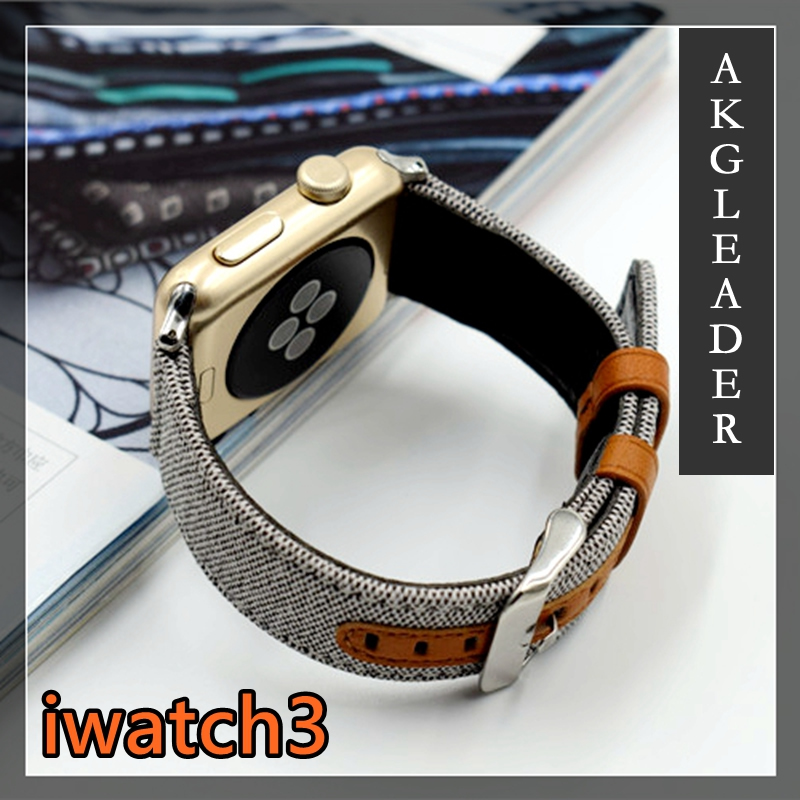 38-42mm Newest Nylon with Genuine Leather Sport Replacement Strap Wrist Band For Apple Watch series 1 2 3 Watch Bracelet Belts survival nylon bracelet brown