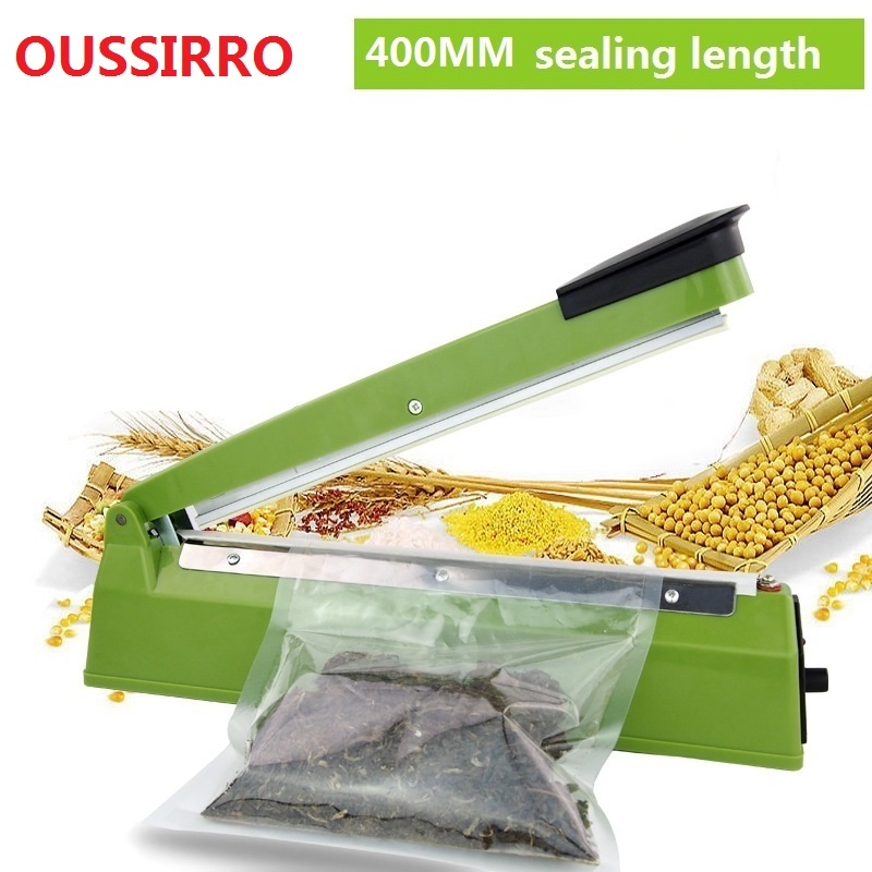 220V 400mm IMPULSE SEALER Heat Teflon Sealing Machine Impulse bag Sealer Seal Sackholder Poly Tubing Plastic Bag Kit kitchen