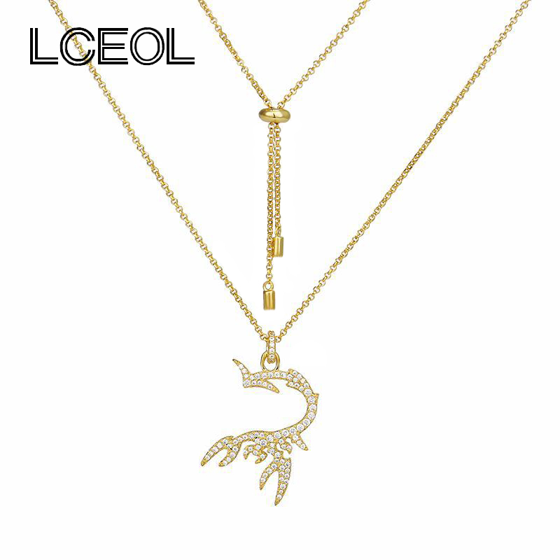 LCEOL  Monaco Brand Jewelry Necklace for Women Popular Scorpion Pendant Necklaces Long Chain Full with AAA zircon Animal JewelryLCEOL  Monaco Brand Jewelry Necklace for Women Popular Scorpion Pendant Necklaces Long Chain Full with AAA zircon Animal Jewelry